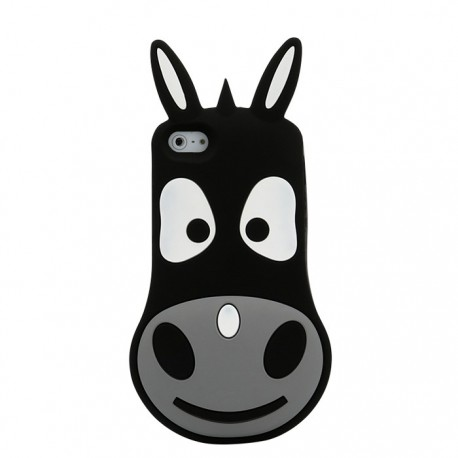 Coque Silicone 3D Donkey Iphone 5/5s Noir