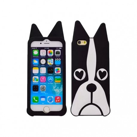 Coque Silicone 3D Dog Iphone 5/5s Noir