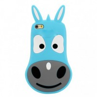 Coque Silicone 3D Donkey Iphone 5/5s Bleu