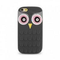Coque Silicone 3D Hibou Iphone 5/5s Noir